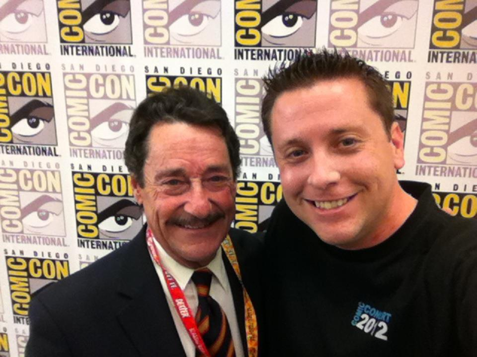 Peter Cullen (Optimus Prime) and Matt Sernaker (Managing Editor) at San Diego Comic-Con 2012