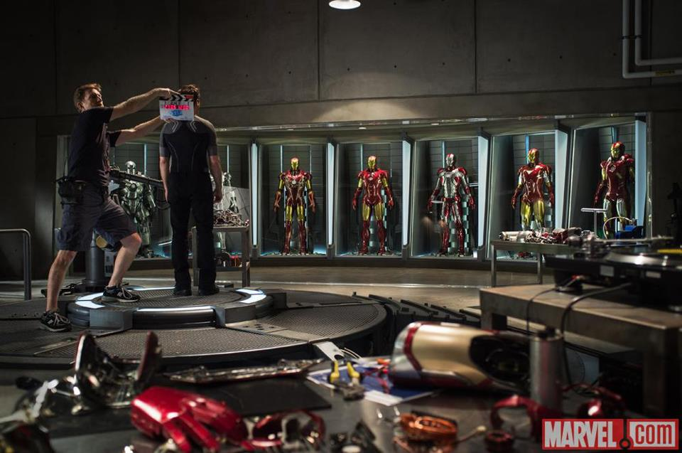 Check out the first official image from the set of Iron Man 3!
