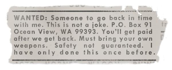 Safety Not Guaranteed Ad